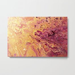 fluid golden raspberry Metal Print