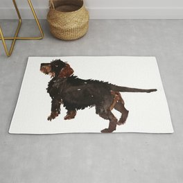 watercolor dog vol3 dachshund Rug