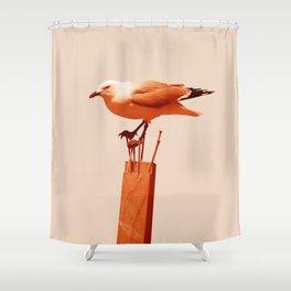 Monochrome - Seagull Shower Curtain