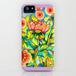 Peach & Pink Peonies iPhone Case