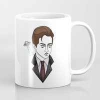 mulder Mugs featuring spooky mulder by Bunny Miele