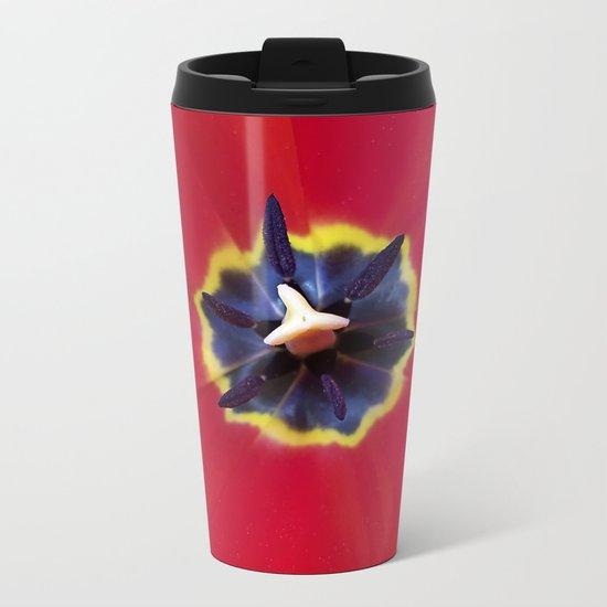 Seeing red (at tulip time) Metal Travel Mug