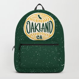 Hand Drawn Baseball for Oakland California with custom Lettering Backpack
