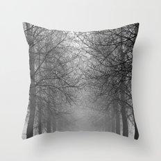 Mist Trees Throw Pillow