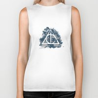 ravenclaw Biker Tanks featuring The Deathly Hallows (Ravenclaw) by FictionTea