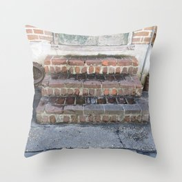 New Orleans: French Quarter Stoop Throw Pillow