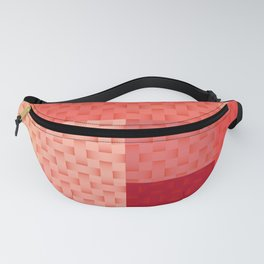 PINK SPRING BLOCK AND WEAVE PATTERN Fanny Pack