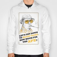 fear and loathing Hoodies featuring Fear and Loathing in Las Vegas by Michelle Eatough