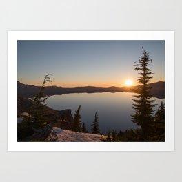 Sunrise at Crater Lake Art Print