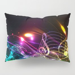 Music Notes in Color Pillow Sham