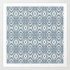 Web Navy Art Print
