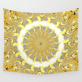 Orange and Yellow Kaleidoscope 2 Wall Tapestry