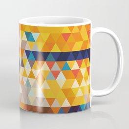 Geometric Triangle - Ethnic Inspired Pattern - Orange, Blue Coffee Mug