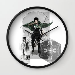 Captain Levi Attack on Titan Shingeki no kyojin Wall Clock