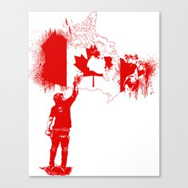 Canada Tagger Canvas Print