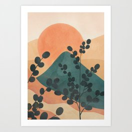 Mountain Sun Art Print
