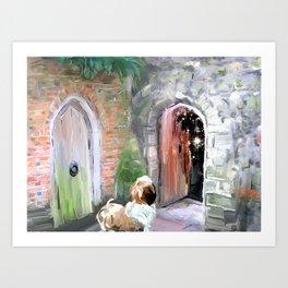 Once door closes Art Print