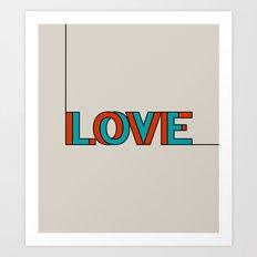 .LOVE. Art Print