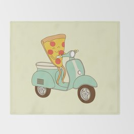 pizza delivery Throw Blanket