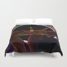 Yig the Great Snake God Duvet Cover