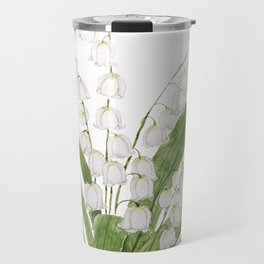 white lily of valley Travel Mug