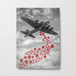 Flowers Bombing Metal Print