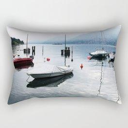 Boats on Lake Garda Rectangular Pillow