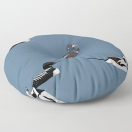 Ducks and a Loon Floor Pillow