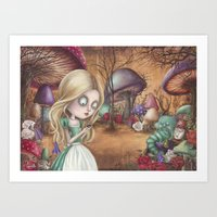 returns Art Prints featuring Alice returns by Caroletta