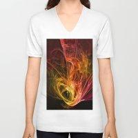 fractal V-neck T-shirts featuring Fractal by jbjart