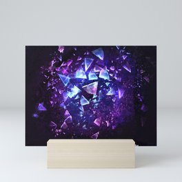 Crystel shards Mini Art Print