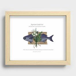Seafood Series : Paperbark Blue Cod Fish Recessed Framed Print