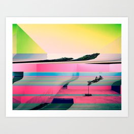 Distorted Reality Art Print