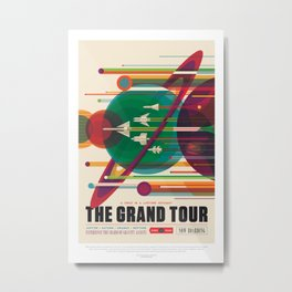 Grand Tour - NASA Space Travel Poster  Metal Print