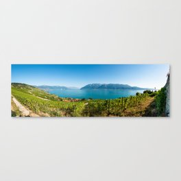 Panorama of vineyards of the UNESCO World Heritage Site of Lavaux Canvas Print