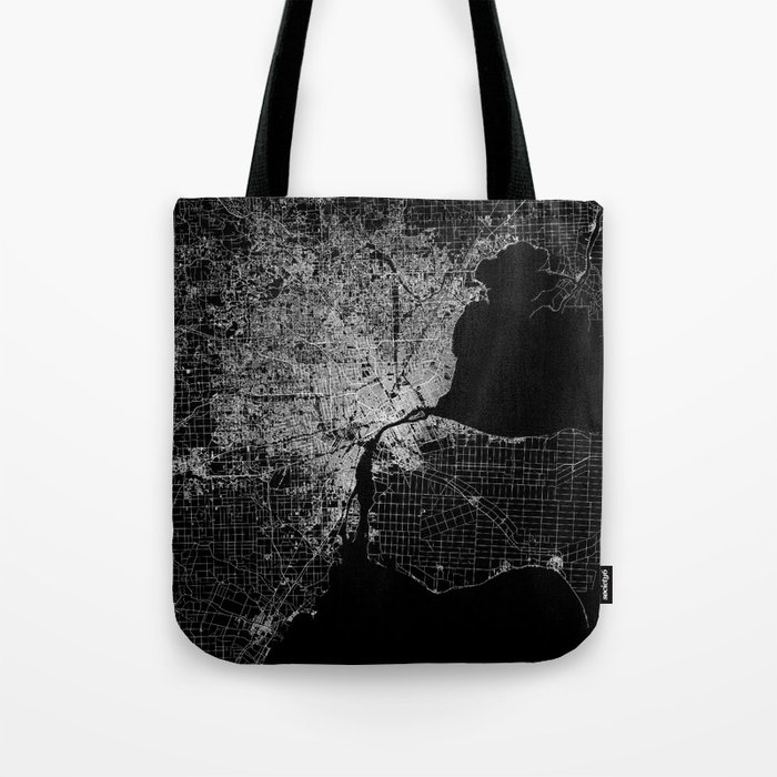 Detroit map  Tote Bag