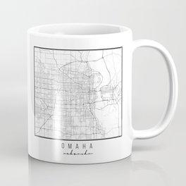 Omaha Nebraska Street Map Coffee Mug