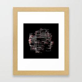 Grid Work Framed Art Print