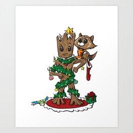 Grootmas Tree Art Print