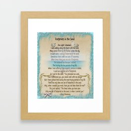 Footprints In The Sand Framed Art Print