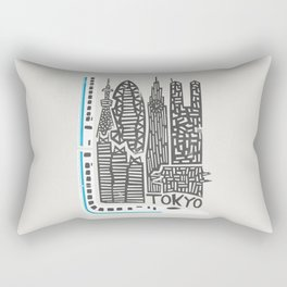 Tokyo Cityscape Rectangular Pillow