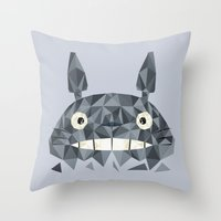 totes Throw Pillows featuring Totes by D. A. M. Good Prints
