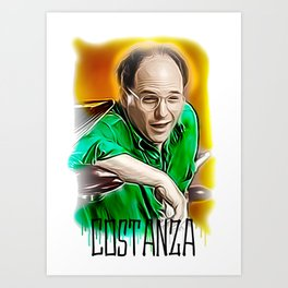 george costanza print Art Print