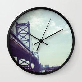 Philadelphia Ben Franklin Bridge Wall Clock