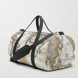 Old World Map print from 1794 Duffle Bag