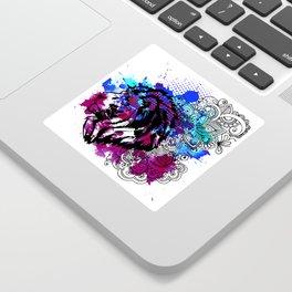 Purple Lion Spirit Sticker
