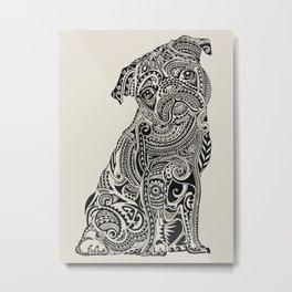 Polynesian Pug Metal Print