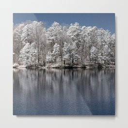 Infrared Tree Reflections Metal Print