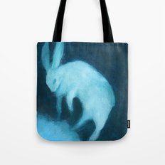 Ghost Bunny adrift Tote Bag