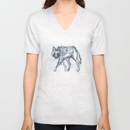 Coyote Sketch Unisex V-Neck